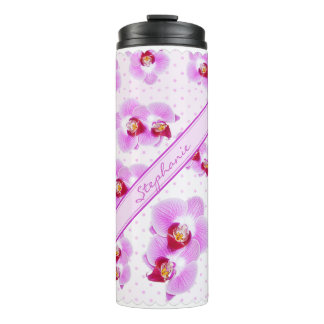 Personalize: Tropical Orchid Floral Photography Thermal Tumbler