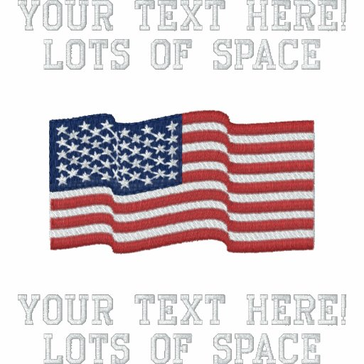 Personalize USA Stars 'n Stripes FLAG Embroidery Embroidered Shirts