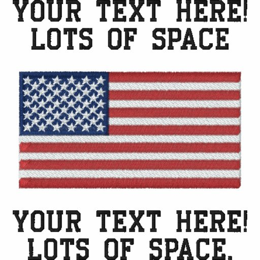 Personalize USA Stars 'n Stripes FLAG Embroidery