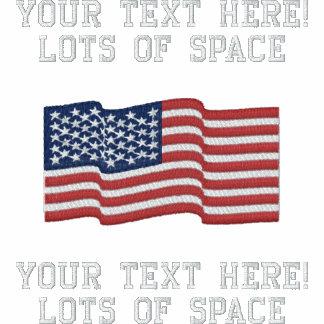 Personalize USA Stars 'n Stripes FLAG Embroidery Polo Shirts