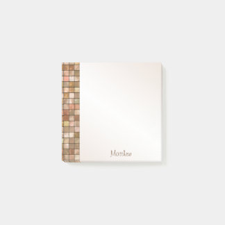 Personalize Variegated Brown Decorative Tile Post-it® Notes