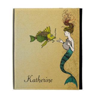Personalize Victorian Mermaid iPad Folio Cover