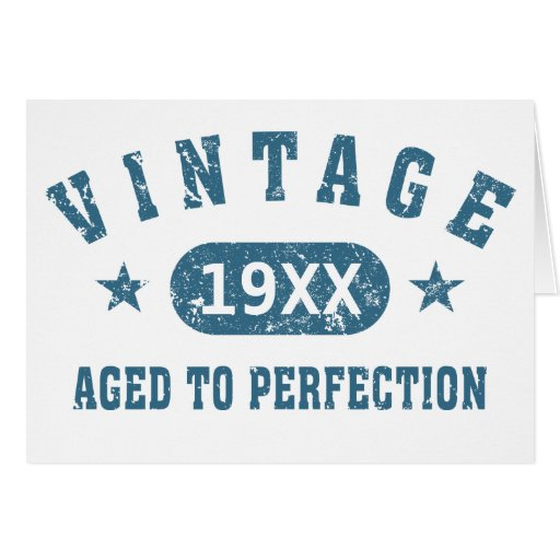 Personalize Vintage Aged to Perfection [blue] Greeting Card
