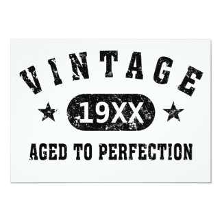 Personalize Vintage Aged to Perfection 13 Cm X 18 Cm Invitation Card