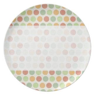 Personalize Vintage Polka Dots Plates