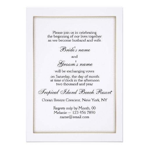 Personalize wedding invitation metallic