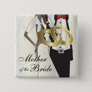 Personalize Wedding Party and Family Members 15 Cm Square Badge