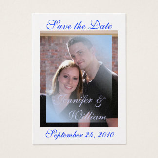 PERSONALIZE WEDDING PHOTO BUSINESS CARD