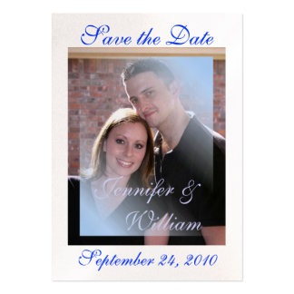 PERSONALIZE WEDDING PHOTO PACK OF CHUBBY BUSINESS CARDS