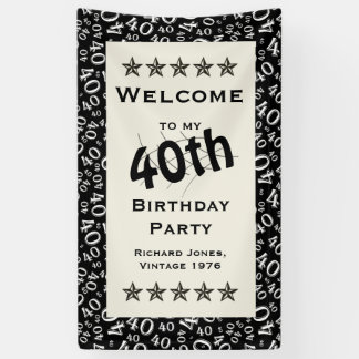 Personalize: Welcome to my 40th Birthday Party