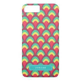 Personalize with Name Colorful Geometric Pattern iPhone 7 Plus Case