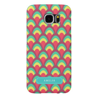 Personalize with Name Colorful Unique Geometric Samsung Galaxy S6 Cases