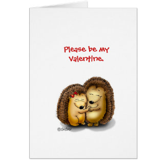Personalize with name - Hugging Hedgehogs Greeting Card