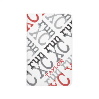 Personalize XC Run Cross Country Pattern Journals
