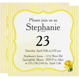 Personalize: Yellow Daffodil Floral Photography Card