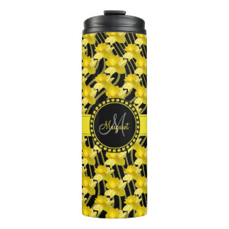 Personalize: Yellow Daffodil Floral Photography Thermal Tumbler