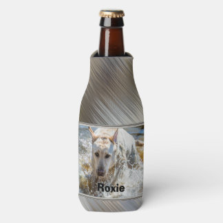 Personalize:  Yellow Labrador Photo Framed Bottle Cooler