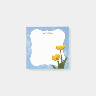 Personalize - Yellow Tulips Floral Photography Post-it Notes