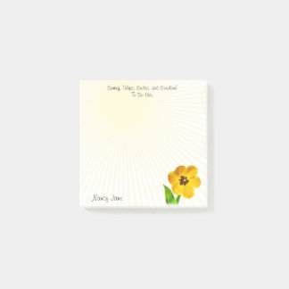 Personalize: Yellow Tulips Photography To Do List Post-it Notes