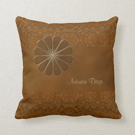 Personalize Your Autumn Days Throw Pillows