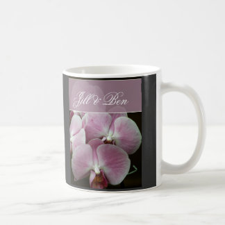Personalize your own orchid design basic white mug