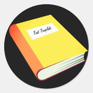 Personalize Your Yellow Book Emoji Classic Round Sticker