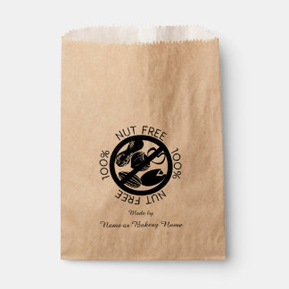 Personalized 100% Nut Free Bakery Peanut Tree Nut Favour Bags