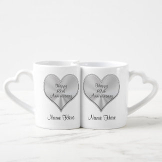 Personalized 10th Wedding Anniversary Gifts MUGS