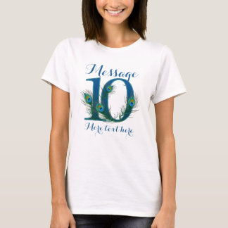 Personalized 10th wedding anniversary T-shirt