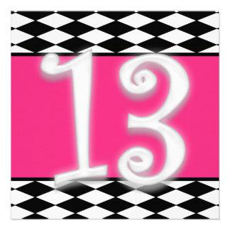 Personalized 13th Birthday Invitation