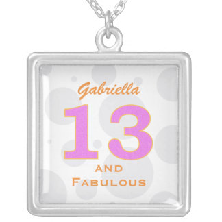 Personalized 13th Birthday Necklace