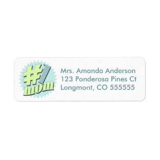 Personalized #1 Mom Return Address Labels