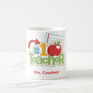 Personalized #1 Teacher Mug