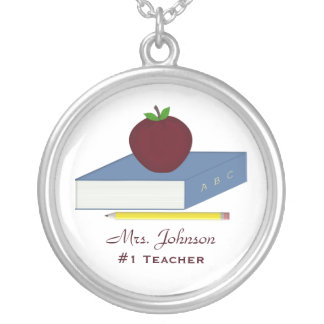 Personalized #1 Teacher Necklace
