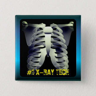 Personalized #1 X-Ray Tech 15 Cm Square Badge