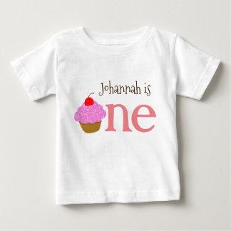 Personalized 1st Birthday Girls Cupcake Shirt