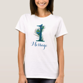 Personalized 1st wedding anniversary text T-shirt