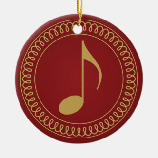 Personalized 2011 Music Note Christmas Gift Ceramic Ornament