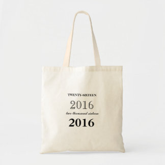 Personalized 2016 Graduation Tote in Black Budget Tote Bag