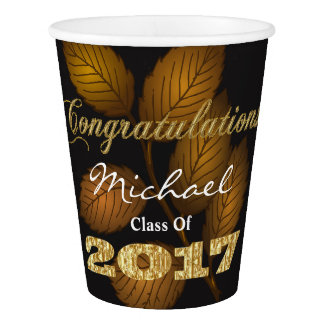 Personalized 2017 Graduation Paper Cup