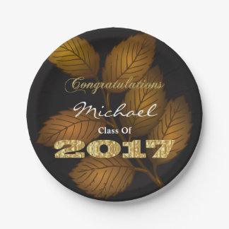 Personalized 2017 Graduation Paper Plate