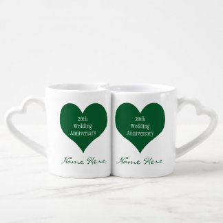 Personalized 20th Anniversary Gift Ideas Heart Mug