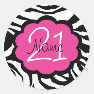 Personalized 21st Birthday Sticker