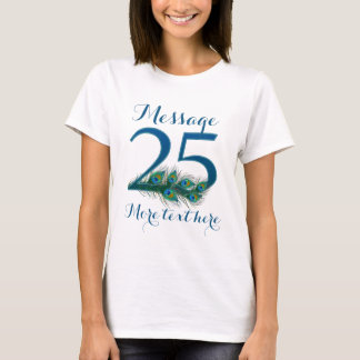 Personalized 25th Wedding anniversary text T-shirt