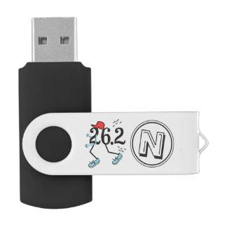 Personalized 26.2 Marathon Runner Monogram Swivel USB 2.0 Flash Drive