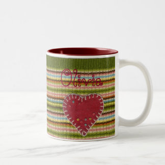 Personalized 2-tones Mug with Knitted Pattern