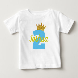 Personalized 2nd Birthday Crown Boy's Shirt