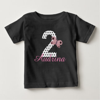 Personalized 2nd Birthday Girls Butterfly Shirt