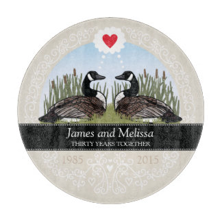 Personalized 30th Wedding Anniversary, Geese Cutting Boards