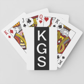 Personalized 3 Letter Monogram Modern Black White Playing Cards